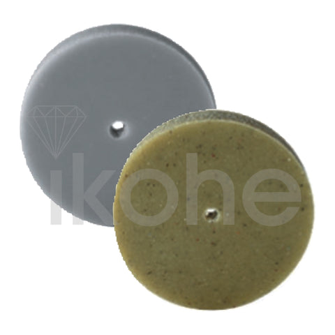 EVE PUMICE WHEELS SQ/EDGE 22 X 3 mm YEL/GRN MEDIUM  BX/100