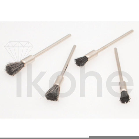 "END BRISTLE BRUSH MOUNTED 3/16 X 3/8"" STIFF  BX/12"
