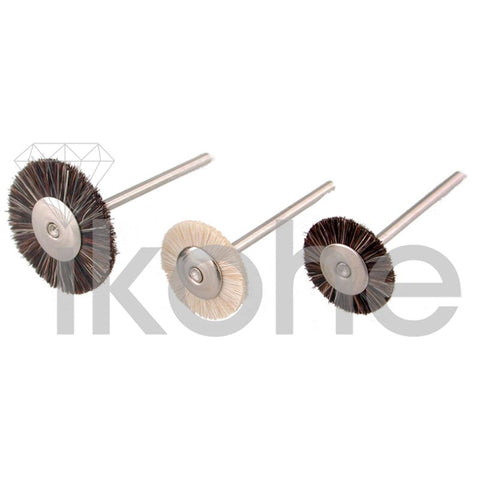 "BRISTLE WHEEL BRUSH MTD 3/4"" EX-SOFT  BX/12"