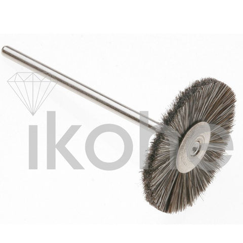 "DWO-BRISTLE WHEEL BRUSH MTD 1"" MEDIUM- GERMAN"