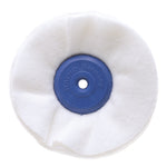 LARGE FLANNEL DISC 100 X 40 HUB X 17mmTHICK - WHITE