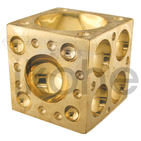 DAPPING BLOCK BRASS 2""