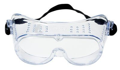 3M- VENTILATED SAFETY GOGGLES, CLEAR LENS