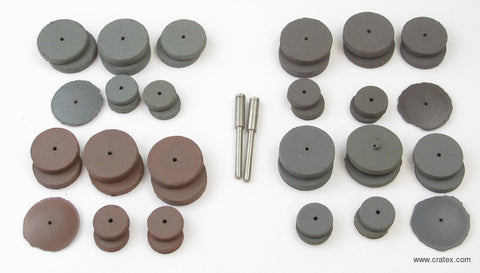 CRATEX SMALL WHEEL KIT  #707  SET OF 44 PCS