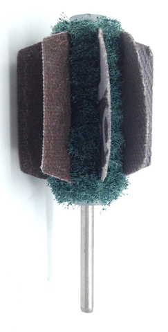 MINI WINGS MOUNTED ABRASIVE BUFFS-180 GRIT
