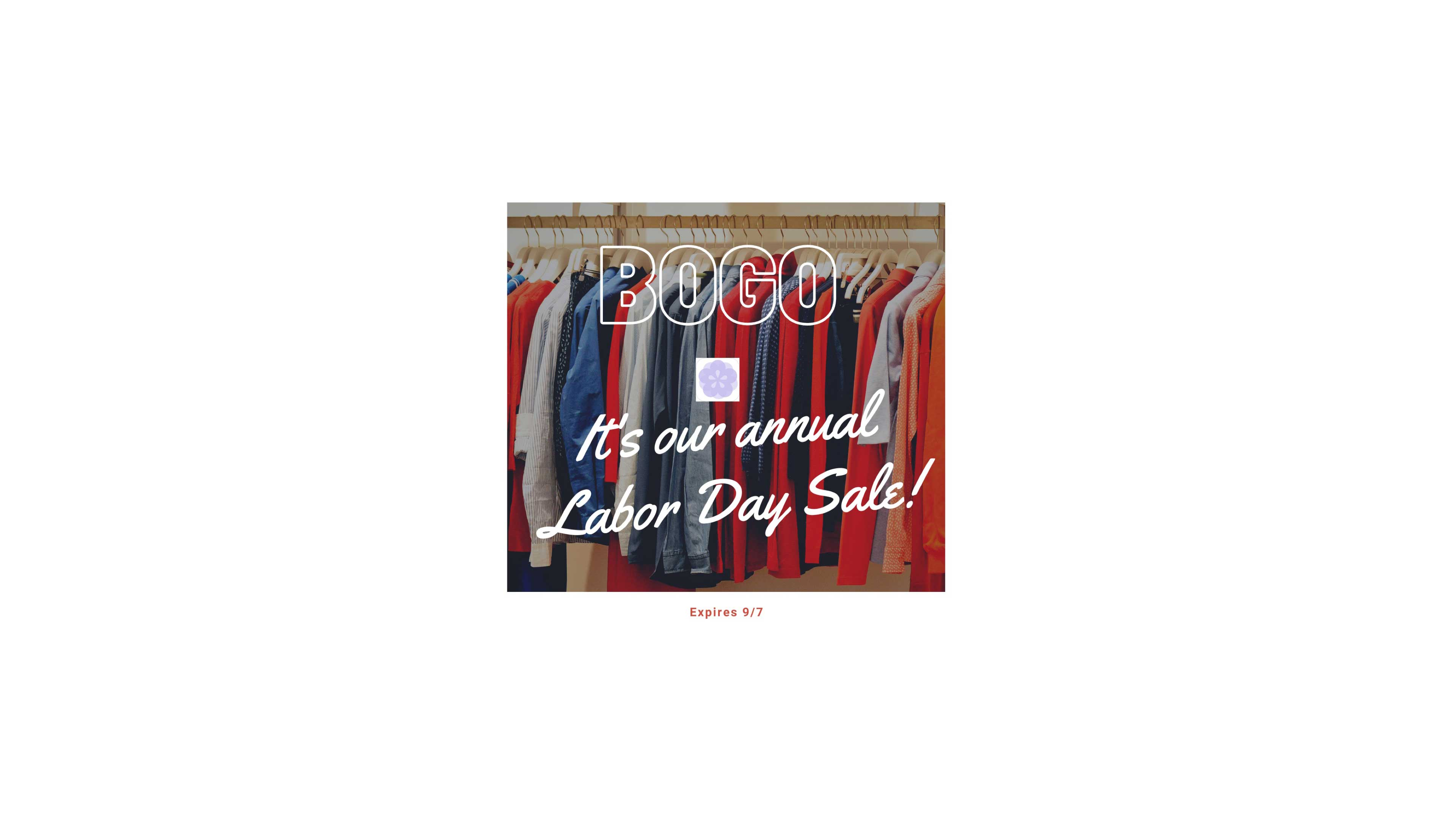 Buy One Get One Labor Day Sale