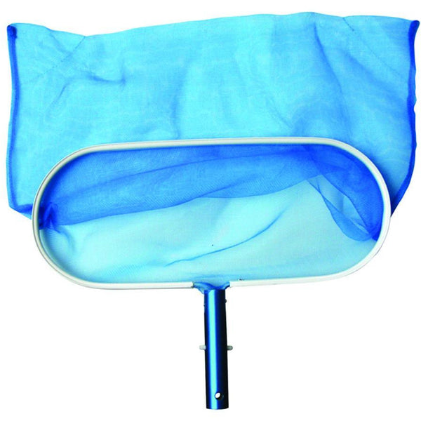 Leaf Rake, Aluminum Rim - Blue And White - Deep Net