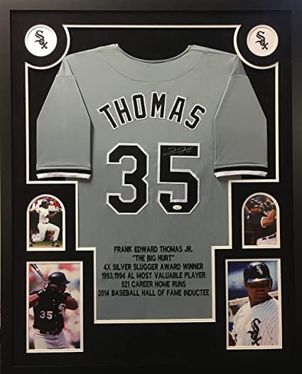 Framed Autographed Baseball Jerseys
