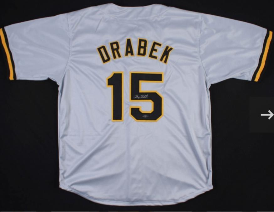 "Doug Drabeck Pittsburgh Pirates, ""CY Young"" signed Jersey (TriStar Hologram)"
