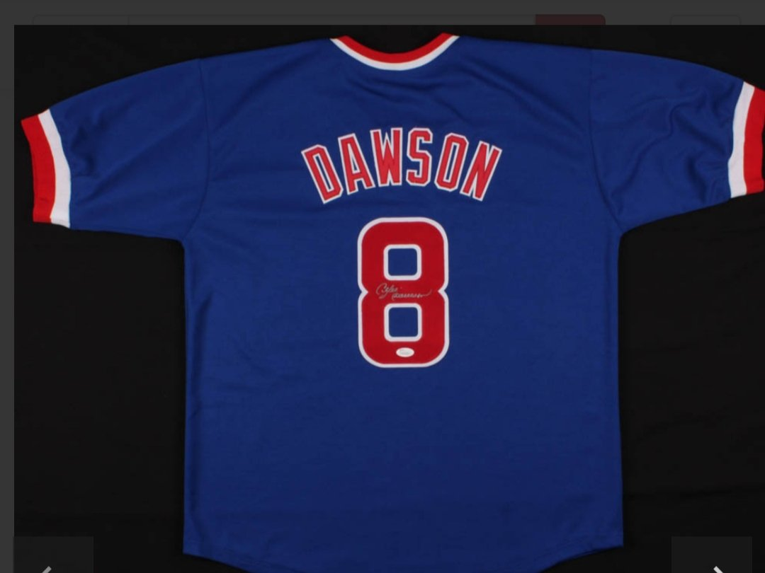 Andre Dawson Chicago Cubs signed Jersey (JSA COA)