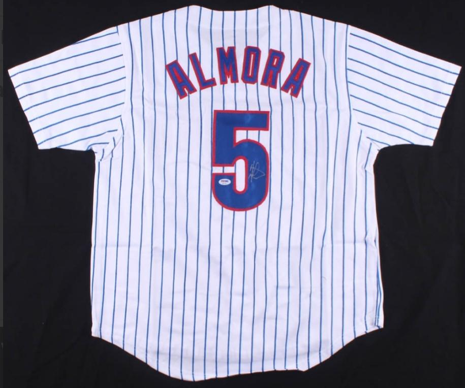 Albert Almora Jr. signed Chicago Cubs Jersey (PSA COA)