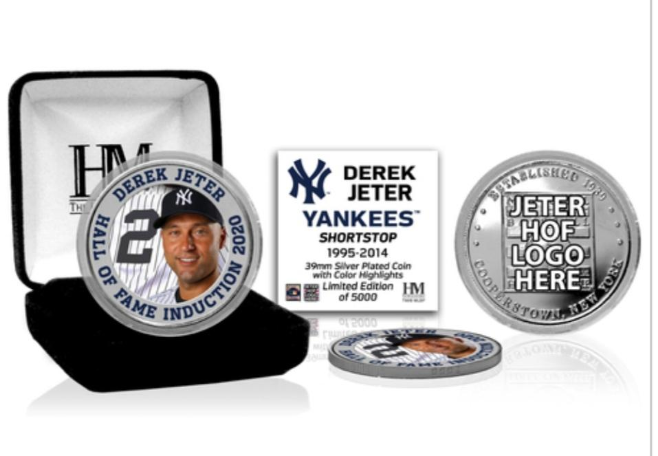 2020 Hall of Fame Inductee Derek Jeter silver plated medallion coin (COA)