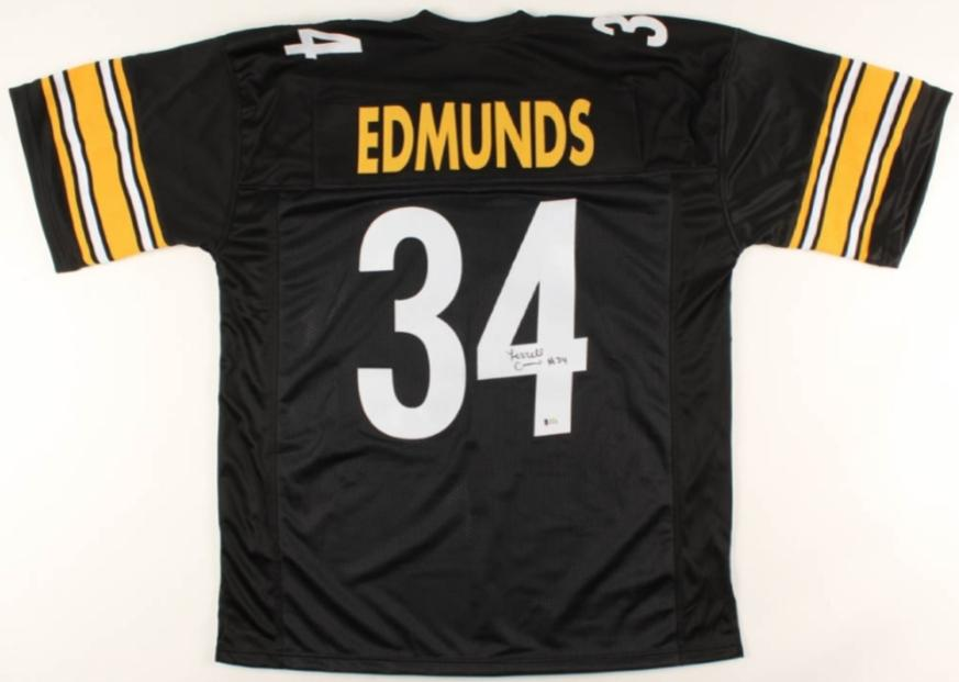 Terrell Edmunds black signed Pittsburgh Steelers style jersey (JSA COA)