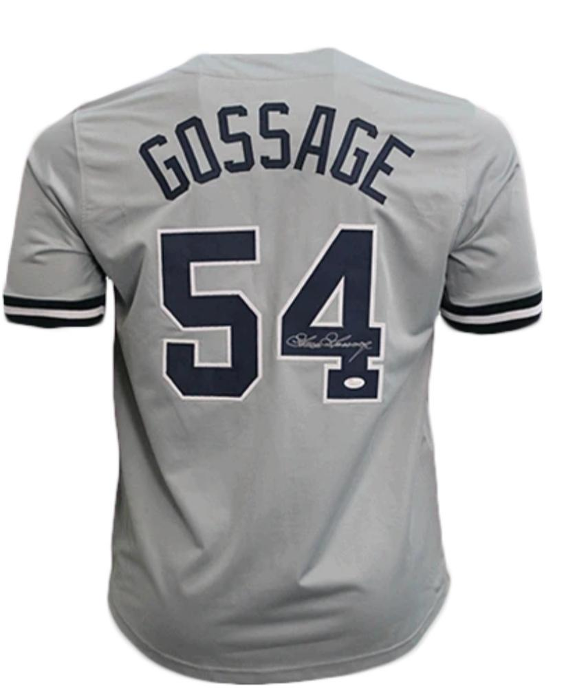 Goose Gossage signed gray New York Yankees style Jersey (JSA COA)