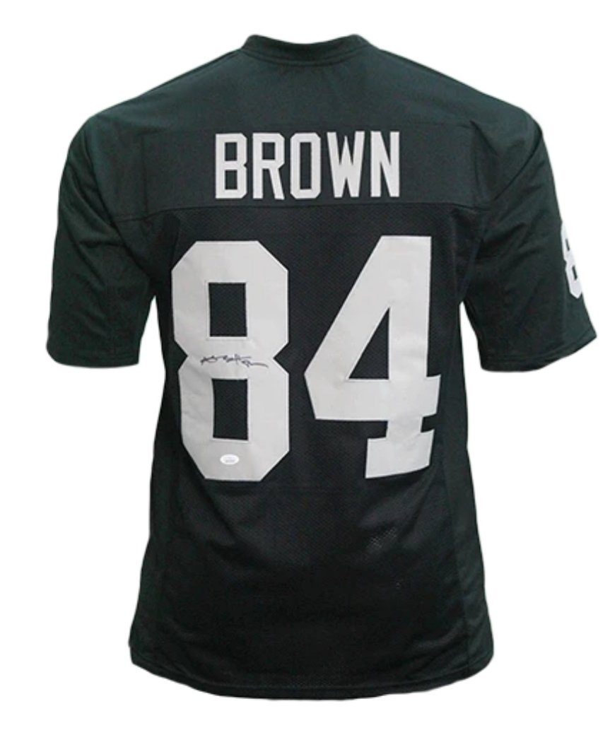 Antonio Brown signed black Los Angeles Raiders style Jersey (JSA COA)
