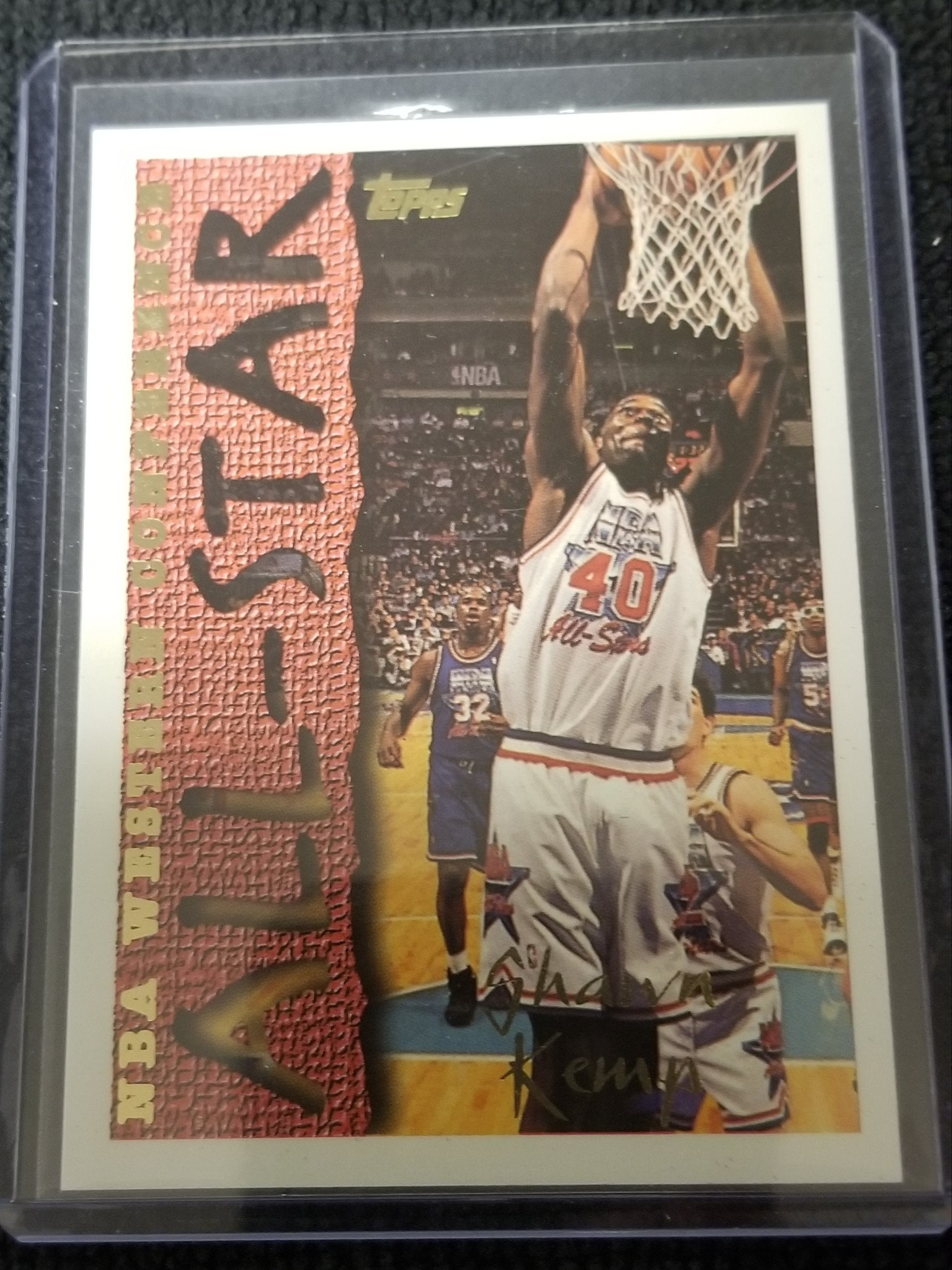 "Shawn Kemp Western Conference ""All-Star"" Topps Basketball Card #186"