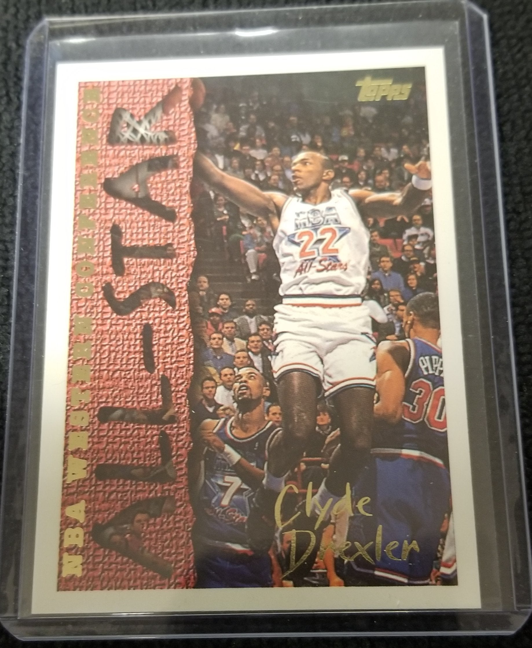 "Clyde Drexler (HOF) Western Conference ""All-Star"" Topps Basketball Card #184"