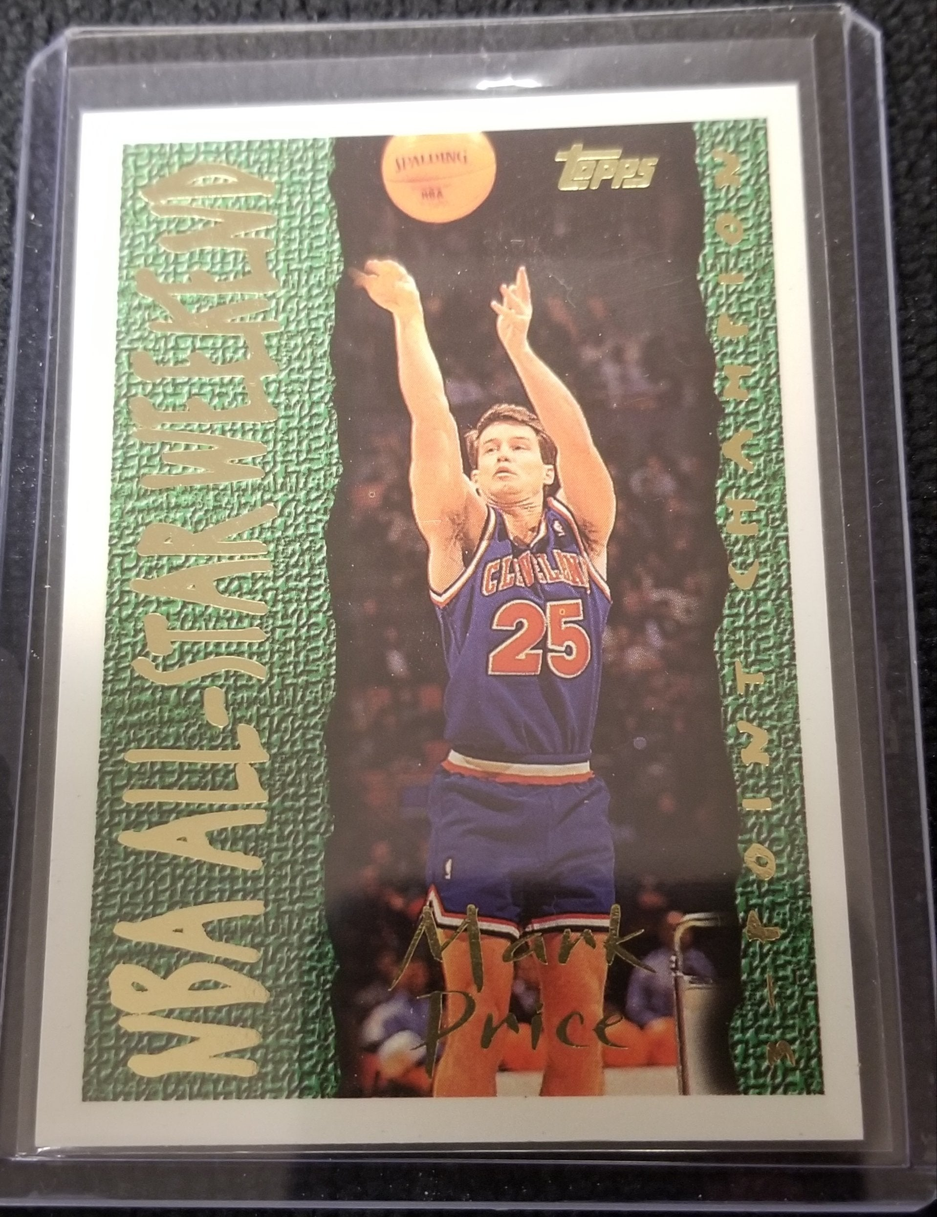 "Mark Price Cleveland Cavaliers ""3-Point Champion"" 1994-95 Topps Basketball Card #196"