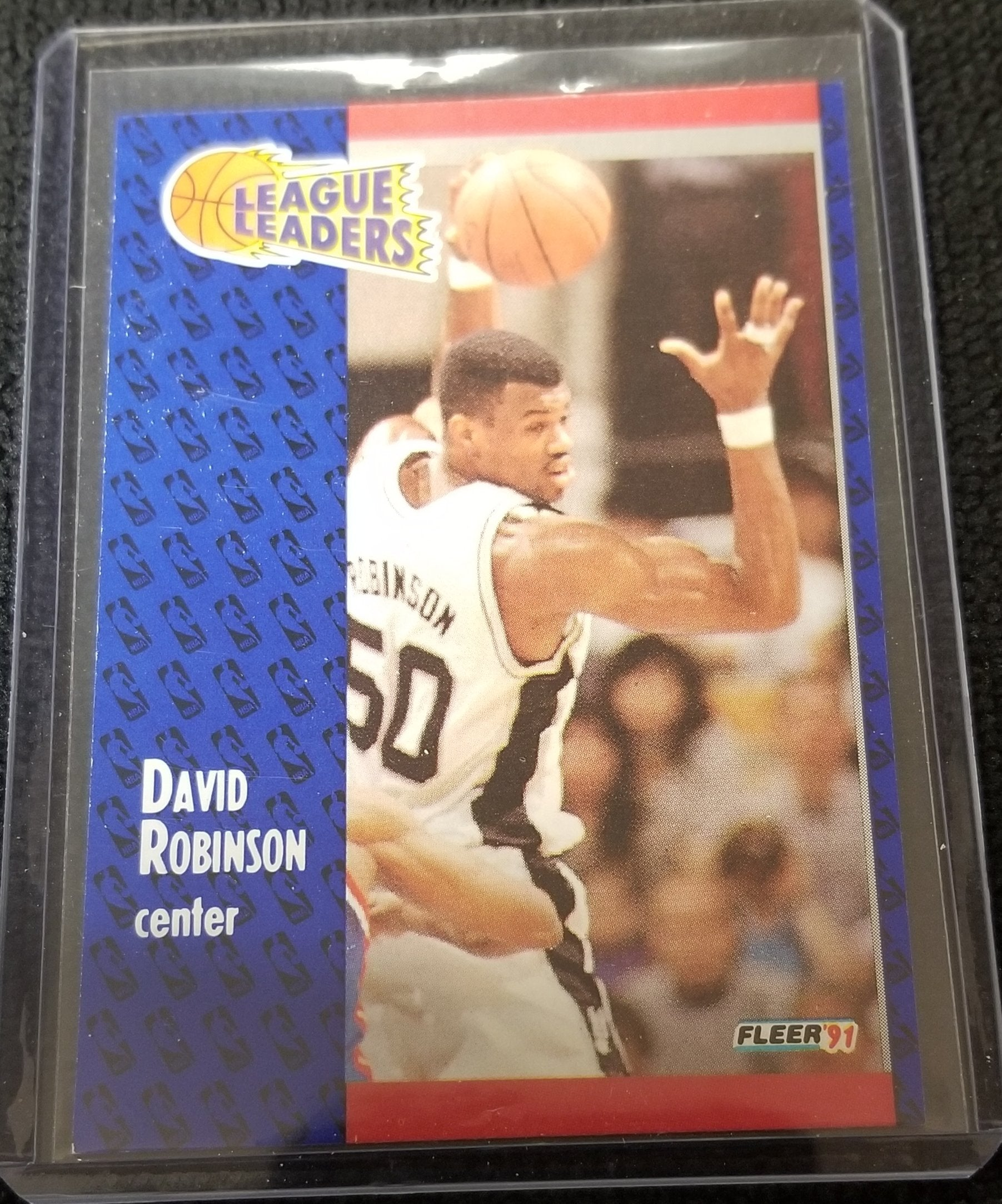 David Robinson (HOF) San Antonio Spurs 1991 Fleer Basketball Card #225
