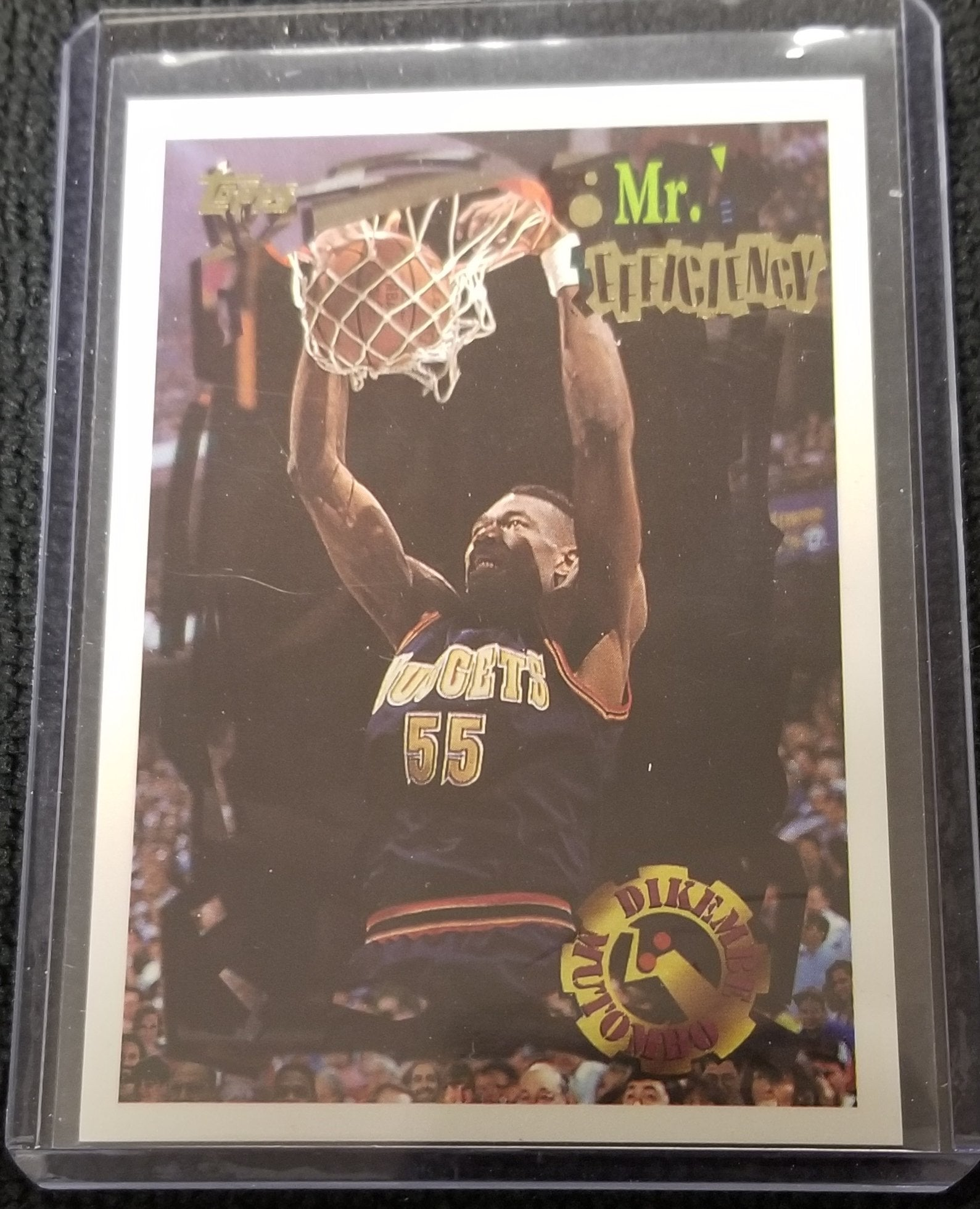 "Dikembe Mutombo Denver Nuggets ""Mr Efficiency"" 1994-95 Topps Basketball Card #50"