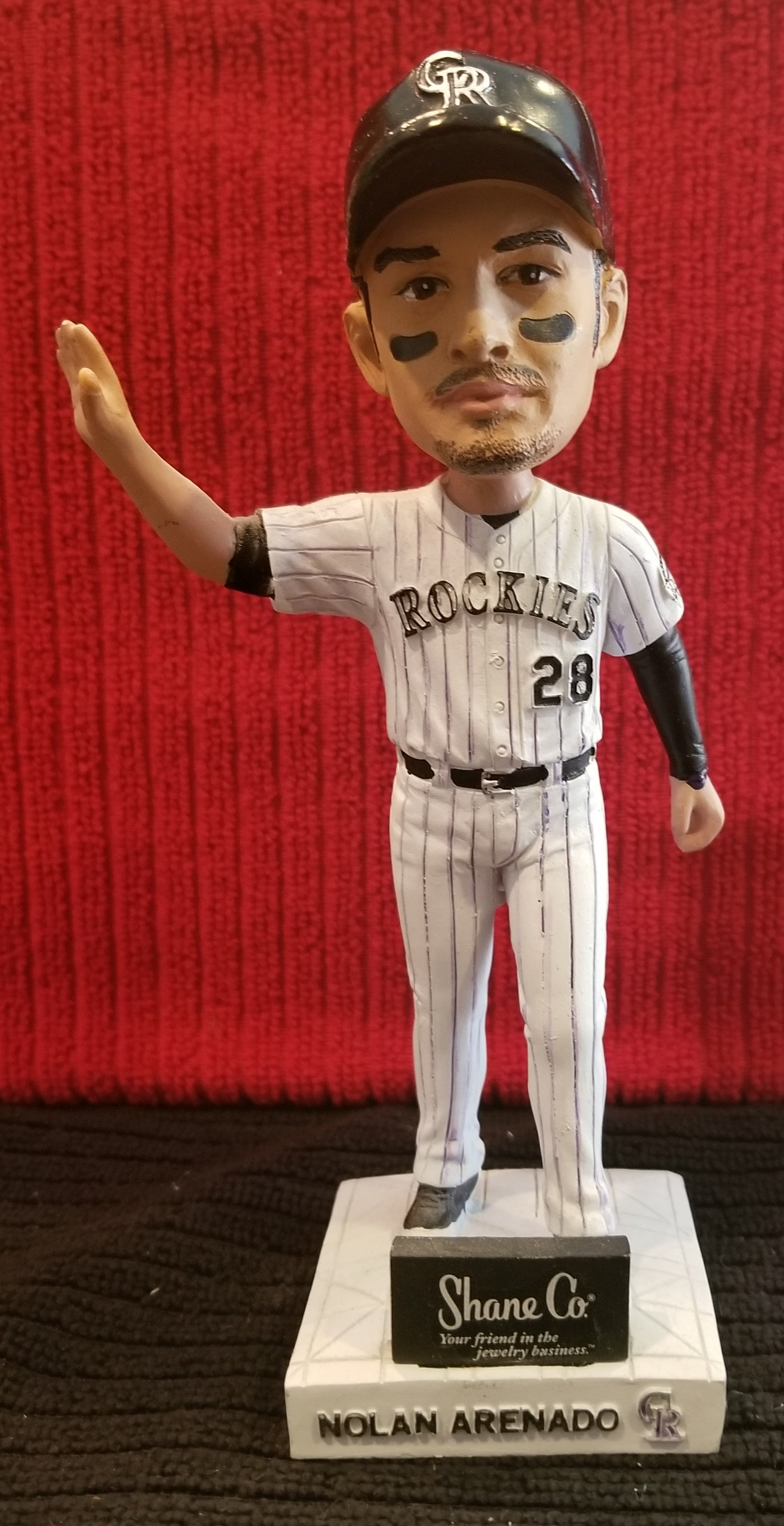 Nolan Arenado #28 2016 Colorado Rockies Shane Company Sponsored Diamond Leader (SGA) Bobblehead