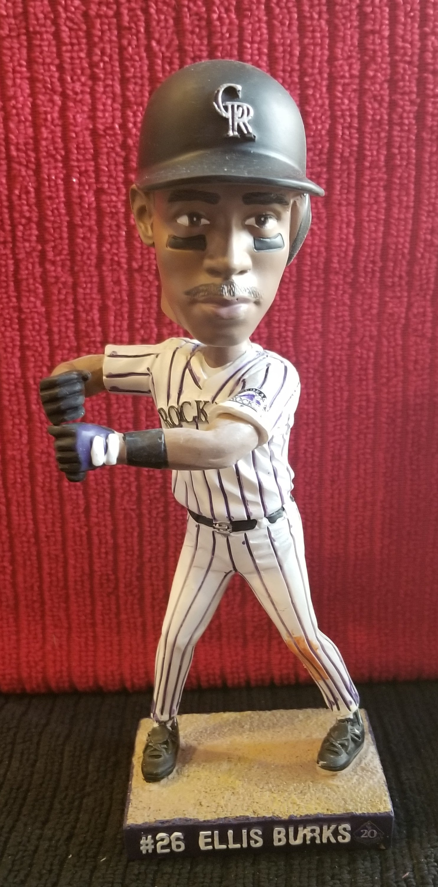 Ellis Burks #26 Colorado Rockies 20th Anniversary 2013 Sports Authority Collector's Edition (SGA) Bobblehead
