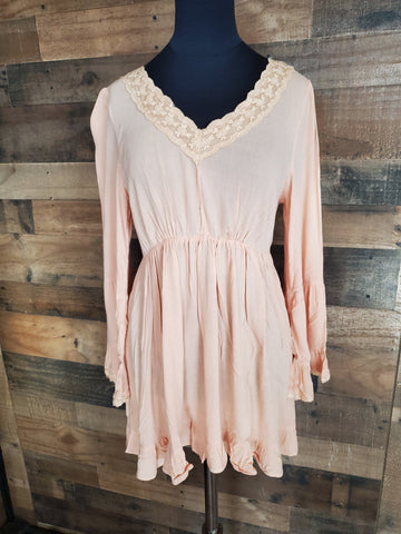 Apricot Lace Top