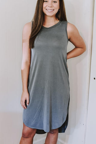 Go To Grey Tank Dress