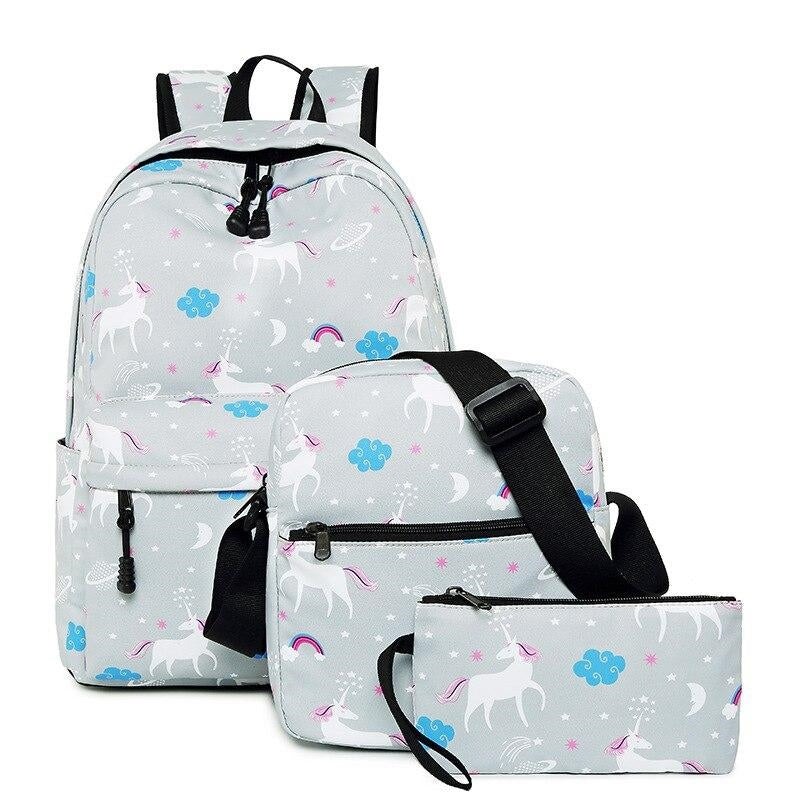 cartable licorne blanc avec dessins Belle