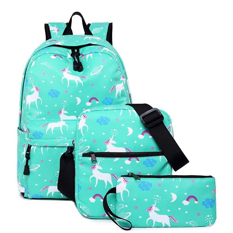 cartable licorne bleu dessins Cute