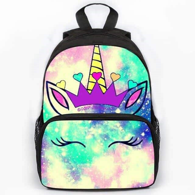 cartable licorne galaxy Arc-en-ciel