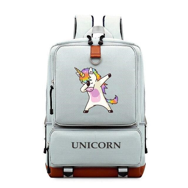 cartable licorne gris pale dab Belle