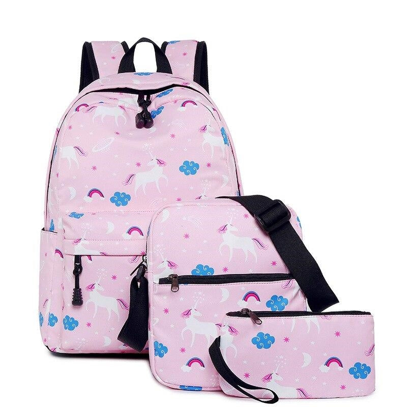cartable licorne rose avec dessins adulte