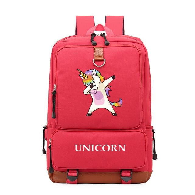 cartable licorne rouge vif dab Corne
