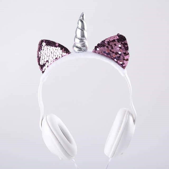 casque licorne audio Paillettes