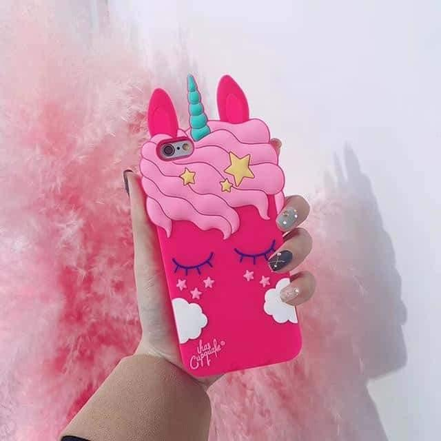 coque licorne en 3d iphone rose et rose bonbon adulte