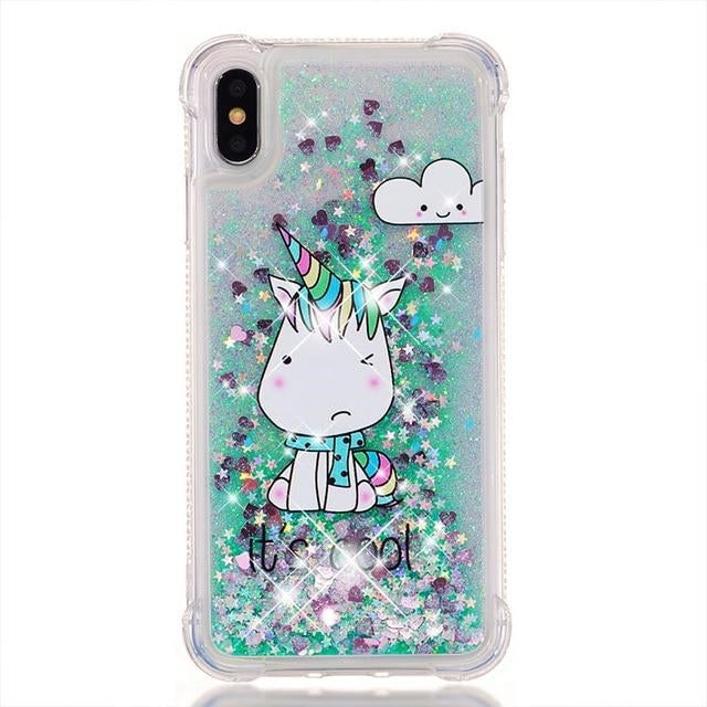 coque licorne iphone brilliant kawaii Arc-en-ciel