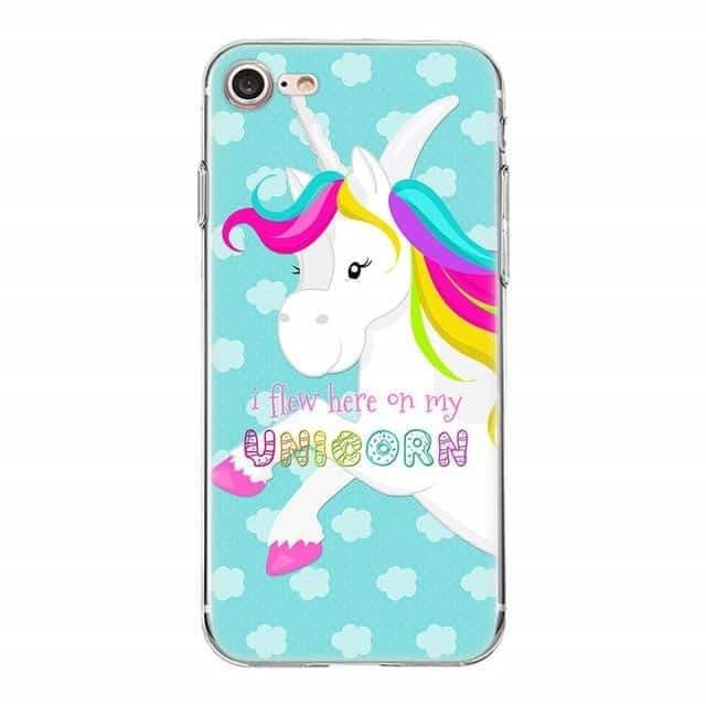 coque licorne iphone i flew here on my unicorn Créature Légendaire