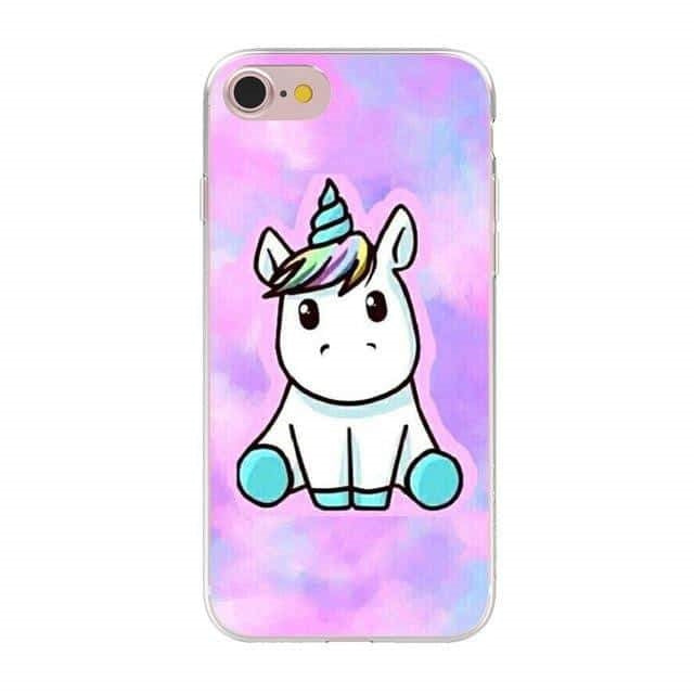 coque licorne iphone kawaii Arc-en-ciel
