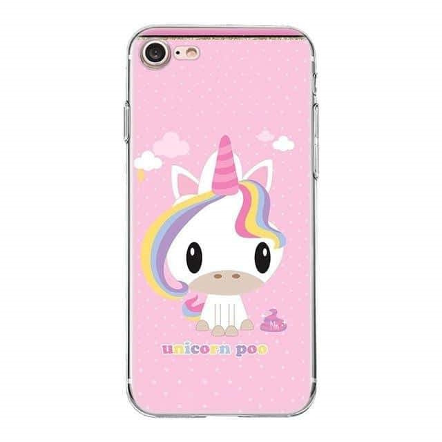 coque licorne iphone unicorn poo Cute