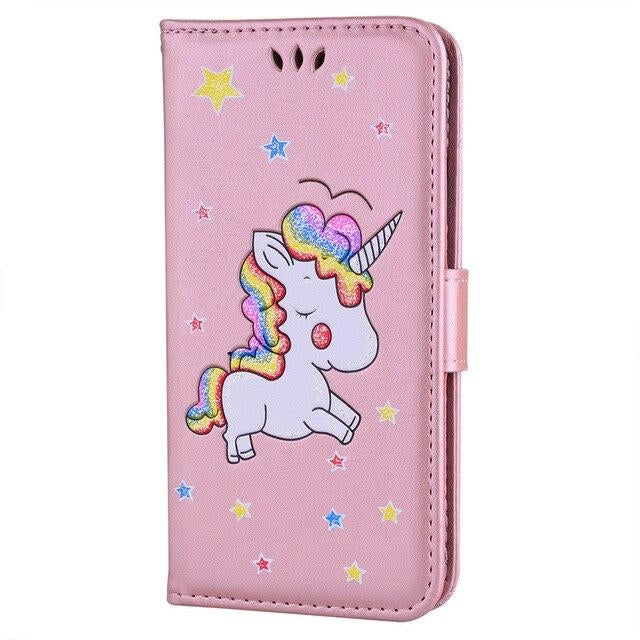 coque licorne samsung rose kawaii unicorn