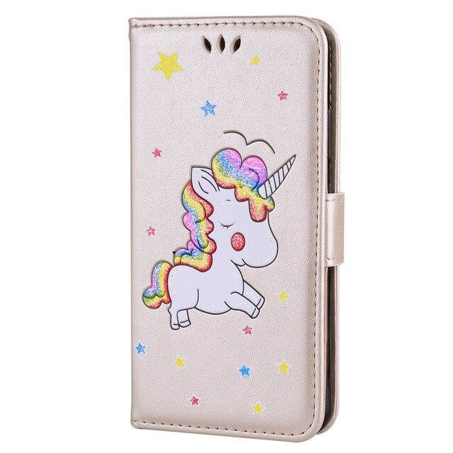coque licorne samsung rose pale Cute