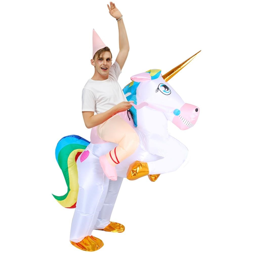 costume licorne gonflable adulte Féerique