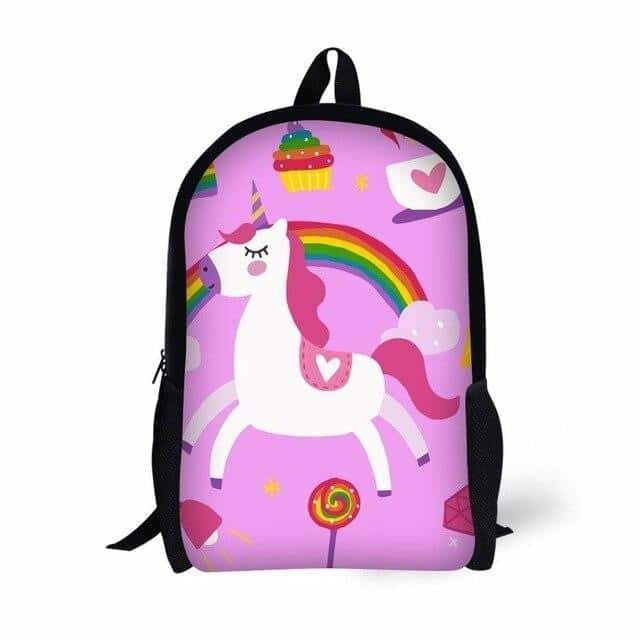 sac a dos licorne rose arc en ciel Cute