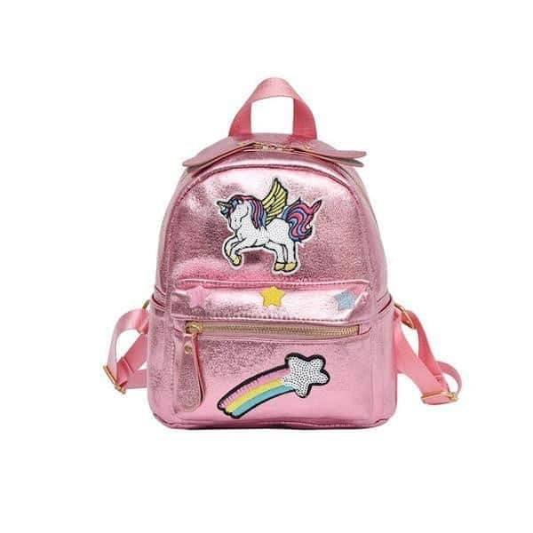 sac a dos licorne rose brillant adulte