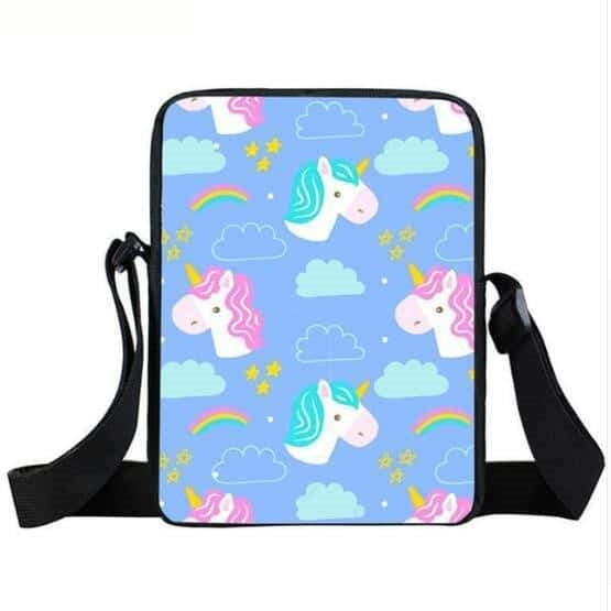 sac a main licorne bleu unicorn