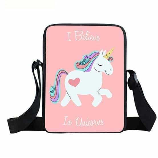 sac a main licorne rose bonbon Belle