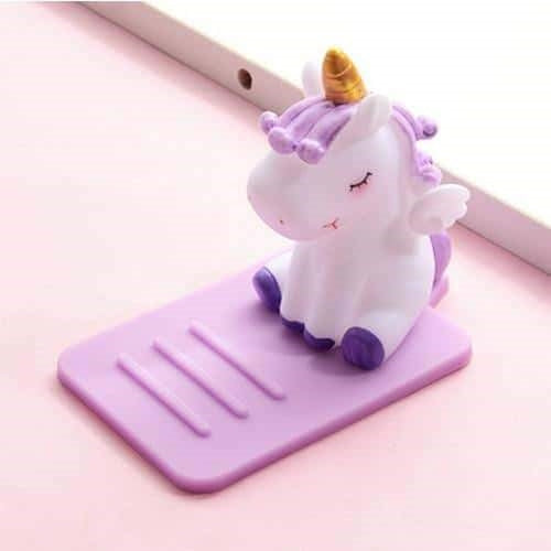 support telephone licorne purple enfant