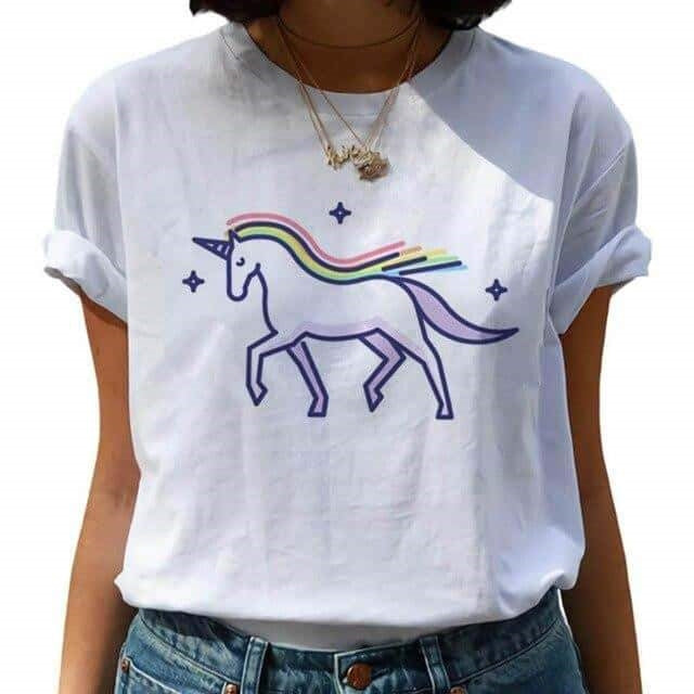 tee shirt licorne simple Corne