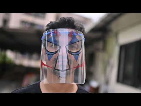Superhero M19 Face Shields [Pack of 3]